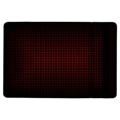 Optical Illusion Grid in Black and Red iPad Air Flip