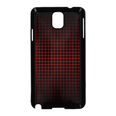 Optical Illusion Grid in Black and Red Samsung Galaxy Note 3 Neo Hardshell Case (Black)