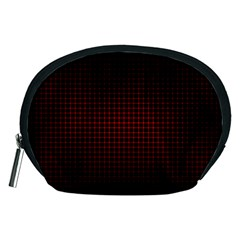 Optical Illusion Grid in Black and Red Accessory Pouches (Medium)