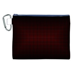 Optical Illusion Grid in Black and Red Canvas Cosmetic Bag (XXL)