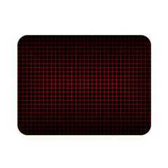 Optical Illusion Grid in Black and Red Double Sided Flano Blanket (Mini)