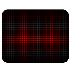 Optical Illusion Grid in Black and Red Double Sided Flano Blanket (Medium)