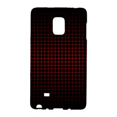 Optical Illusion Grid in Black and Red Galaxy Note Edge