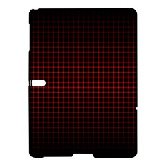 Optical Illusion Grid in Black and Red Samsung Galaxy Tab S (10.5 ) Hardshell Case