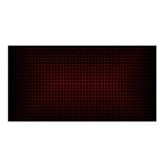 Optical Illusion Grid in Black and Red Satin Shawl
