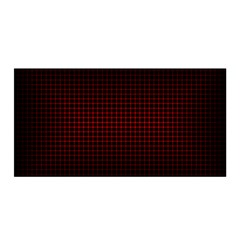 Optical Illusion Grid in Black and Red Satin Wrap