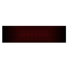 Optical Illusion Grid In Black And Red Satin Scarf (oblong)