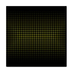 Optical Illusion Grid in Black and Yellow Tile Coasters