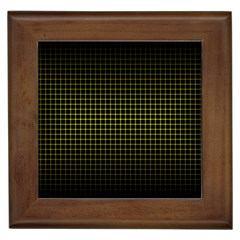 Optical Illusion Grid in Black and Yellow Framed Tiles