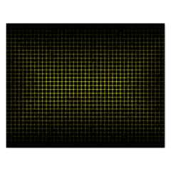 Optical Illusion Grid in Black and Yellow Rectangular Jigsaw Puzzl