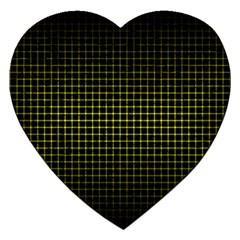 Optical Illusion Grid in Black and Yellow Jigsaw Puzzle (Heart)