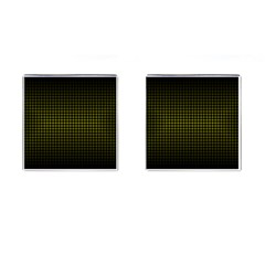 Optical Illusion Grid in Black and Yellow Cufflinks (Square)