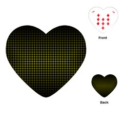 Optical Illusion Grid in Black and Yellow Playing Cards (Heart)