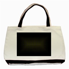 Optical Illusion Grid in Black and Yellow Basic Tote Bag