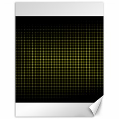 Optical Illusion Grid in Black and Yellow Canvas 12  x 16