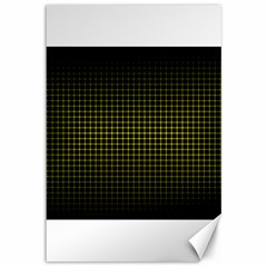 Optical Illusion Grid in Black and Yellow Canvas 12  x 18