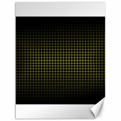 Optical Illusion Grid in Black and Yellow Canvas 18  x 24
