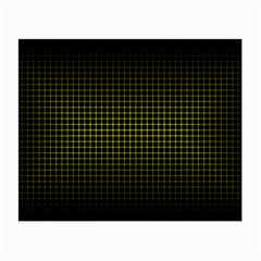 Optical Illusion Grid in Black and Yellow Small Glasses Cloth (2-Side)