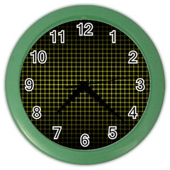 Optical Illusion Grid in Black and Yellow Color Wall Clocks