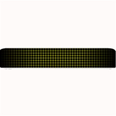 Optical Illusion Grid in Black and Yellow Small Bar Mats