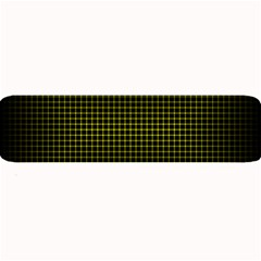 Optical Illusion Grid in Black and Yellow Large Bar Mats