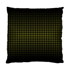 Optical Illusion Grid in Black and Yellow Standard Cushion Case (One Side)