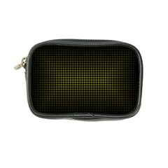 Optical Illusion Grid in Black and Yellow Coin Purse
