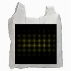 Optical Illusion Grid in Black and Yellow Recycle Bag (One Side)