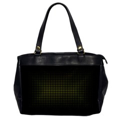 Optical Illusion Grid in Black and Yellow Office Handbags