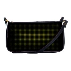 Optical Illusion Grid in Black and Yellow Shoulder Clutch Bags