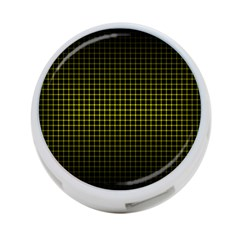 Optical Illusion Grid in Black and Yellow 4-Port USB Hub (One Side)
