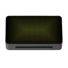 Optical Illusion Grid in Black and Yellow Memory Card Reader with CF