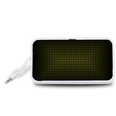 Optical Illusion Grid in Black and Yellow Portable Speaker (White)