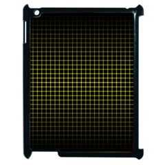 Optical Illusion Grid in Black and Yellow Apple iPad 2 Case (Black)