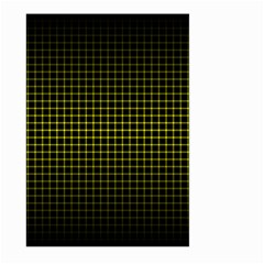 Optical Illusion Grid in Black and Yellow Large Garden Flag (Two Sides)