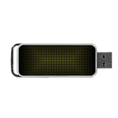 Optical Illusion Grid in Black and Yellow Portable USB Flash (Two Sides)