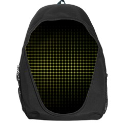 Optical Illusion Grid in Black and Yellow Backpack Bag