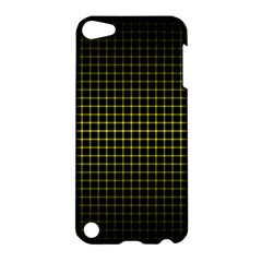 Optical Illusion Grid in Black and Yellow Apple iPod Touch 5 Hardshell Case