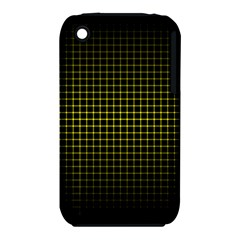 Optical Illusion Grid in Black and Yellow iPhone 3S/3GS