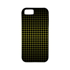 Optical Illusion Grid in Black and Yellow Apple iPhone 5 Classic Hardshell Case (PC+Silicone)