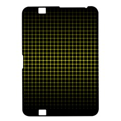 Optical Illusion Grid in Black and Yellow Kindle Fire HD 8.9