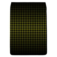 Optical Illusion Grid in Black and Yellow Flap Covers (S)