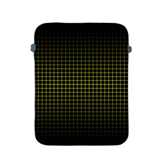 Optical Illusion Grid in Black and Yellow Apple iPad 2/3/4 Protective Soft Cases