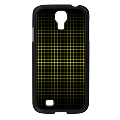 Optical Illusion Grid in Black and Yellow Samsung Galaxy S4 I9500/ I9505 Case (Black)