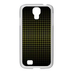 Optical Illusion Grid in Black and Yellow Samsung GALAXY S4 I9500/ I9505 Case (White)