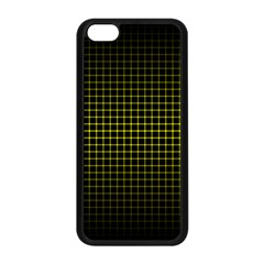Optical Illusion Grid in Black and Yellow Apple iPhone 5C Seamless Case (Black)