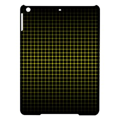 Optical Illusion Grid in Black and Yellow iPad Air Hardshell Cases