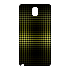 Optical Illusion Grid in Black and Yellow Samsung Galaxy Note 3 N9005 Hardshell Back Case
