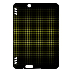 Optical Illusion Grid in Black and Yellow Kindle Fire HDX Hardshell Case