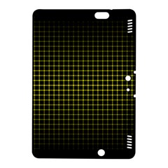Optical Illusion Grid in Black and Yellow Kindle Fire HDX 8.9  Hardshell Case